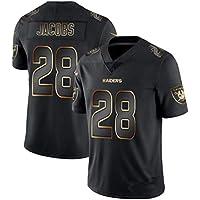 NBJBK Camiseta NFL Rugby Jersey, Eagle Steel Man Cowboy Raiders Saints Black Gold Jersey Jersey Football Jersey Manga Corta Top Deportivo,a-28,S