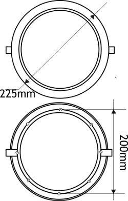 5x-Downlight-led-18W-redondo-plano-de-empotrar-luz-blanca-clida-3000K-aluminio-aro-blanco-mate-para-hueco-de-200-205mm-blanco-Jandei
