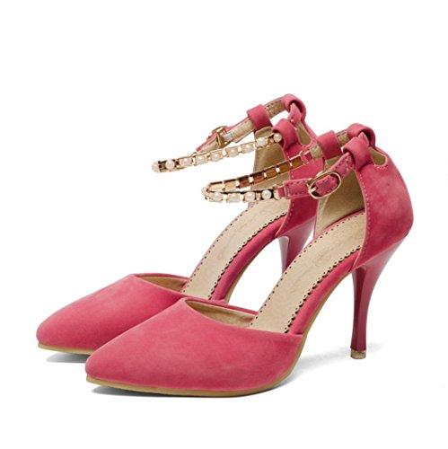 Da donna-Tacchi-Formale Casual Serata e festaA stiletto-Finta pelle-Nero Blu Rosa Beige Pink