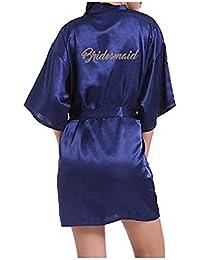 Morbuy Kimono Mujer Batas, Camisón de la Boda para el camisón Nupcial de la Novia del Partido Nupcial
