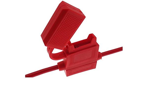 Kfz Sicherungshalter Flachsicherung Sicherung Halter Auto Pkw Wasserdicht Kappe Elektronik