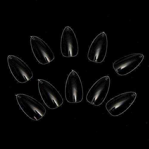 Maniküre Mandel (WMING Home 500 Stücke Falsche Nagel Französisch Stil Acryl Künstliche Kunst Nägel Mandel Oval Spitze Falsche Gefälschte Nagelspitzen DIY Kunst Maniküre Verlängerungswerkzeug Klar (Color : Clear))