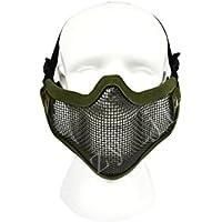 COZYJIA Masques faciaux Airsoft, Tactical Steel Mesh Masks Sangle de  Ceinture réglable Masque Protecteur Demi b12d87e0bba0