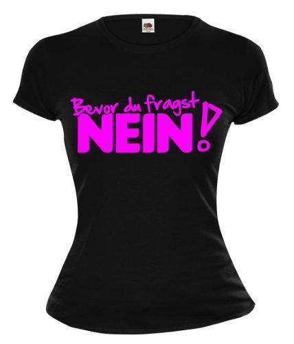 Touchlines t-shirt pour fille buXsbaum avant du fragst non - Black-Neonpink