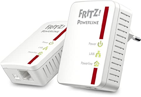 AVM FRITZ!Powerline 510E Set (500 Mbit/s, Fast-Ethernet-LAN) deutschsprachige Version