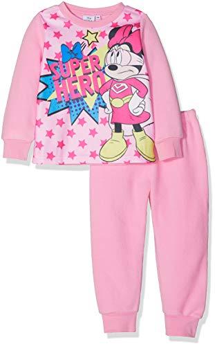 Disney Mädchen Minnie SUPER Hero Zweiteiliger Schlafanzug, Pink 15-2215 Tc, 8 Jahre (Kleidung Disney Weihnachten)