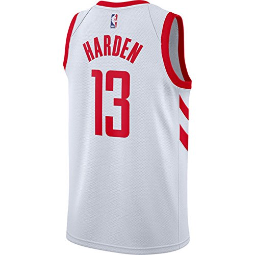 Camiseta sin mangas de Rockets para hombre, color blanco y negro, 17/18, de Harden, hombre, blanco, Large