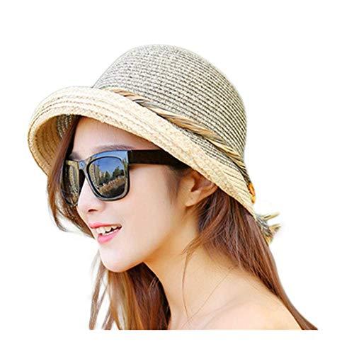 Cosanter Strohhut Sonnenschutz für Damen, Cooler und modischer Sonnenhut für den Sommer am Strand -
