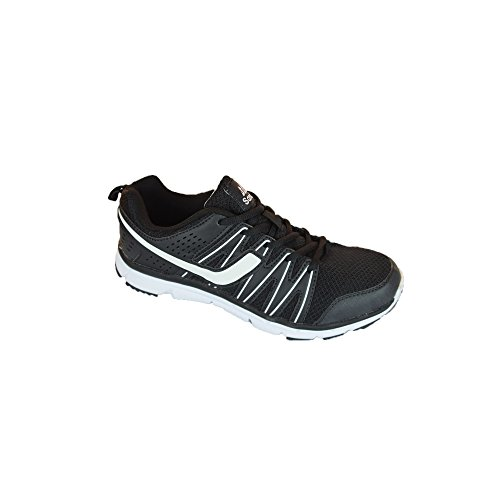 Signor scarpe da corsa, allenamento, Guanti, leggero, elegante e comodo TAGLIA 41–46, bei colori Schwarz/Weiß