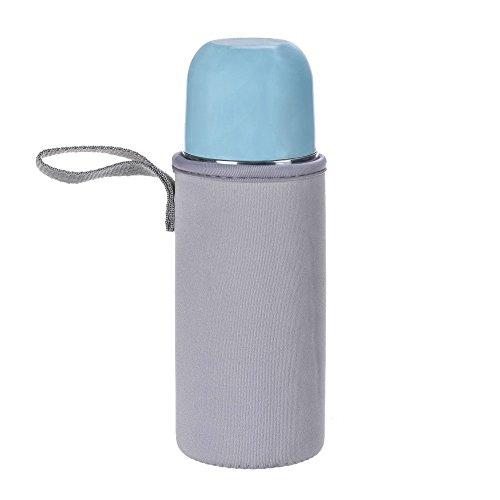 Preisvergleich Produktbild UFODB Bottle Cover Flaschen-Hülle Schutzhülle Beige Für Trinkflaschen Thermobecher Teebereiter Teeflaschen Map Spandex WäRmeisolierte Anti Scald Hände Schutzglasbecher