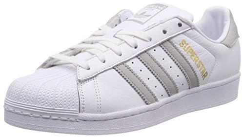 best sneakers 1419b 57dd4 adidas Damen Superstar Gymnastikschuhe, Weiß (FTWR Grey Two F17Ftwr White),