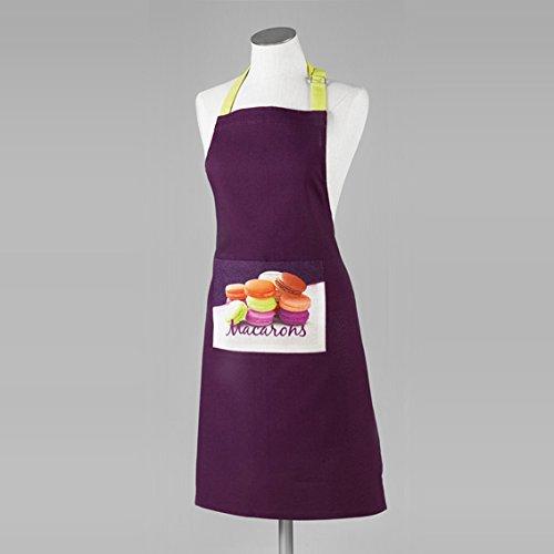 ligne-decor-macarons-tablier-poche-imprime-coton-uni-prune-60-x-84-x-84-cm