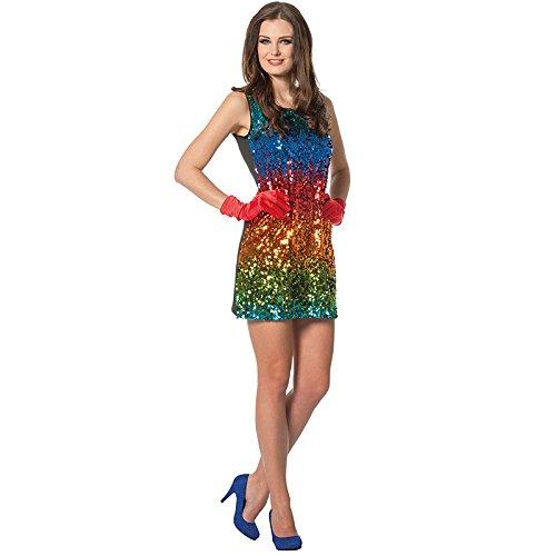 Regenbogenfisch Kostüm Erwachsene - Wilbers NEU Damen-Kostüm Paillettenkleid Rainbow, Gr.