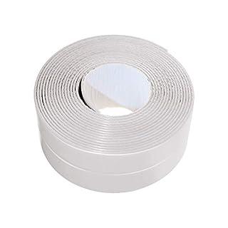 Bathtub Caulk Strip PE Self Adhesive Tub and Wall Sealing Tape Caulk Sealer, 1-1/2