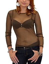 Amazon.fr   sous pull voile - Chemisiers et blouses   T-shirts, tops ... 28b389a71e1c
