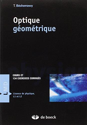 Optique gomtrique : Cours et exercices corrigs