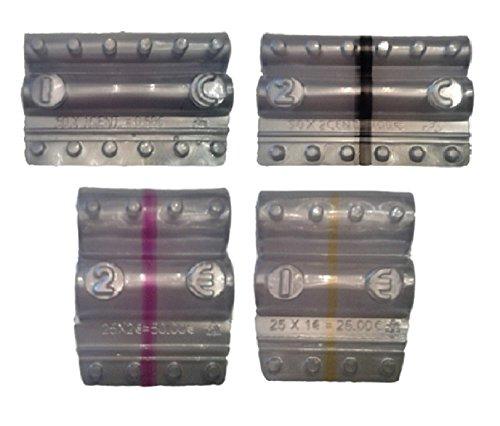 Blister para monedas Euro–Kit 400Blister monedas mezclados de 1Euro, 2Euro, 1Céntimo y 2Centesimi