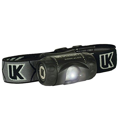 UK Lights Stirnlampe 3AAA Vizion, schwarz 17001