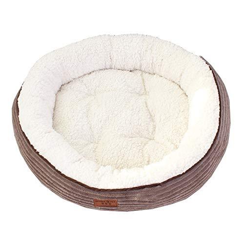 XiuHUa Pet Nest Waschbar Und Samt Verdickter Teddy Kennel Kleine Und Mittlere Hund Hundematte Katze Haustier Hundebett Hund Haus Liefert Haustierzubehör (Size : 55cm) -