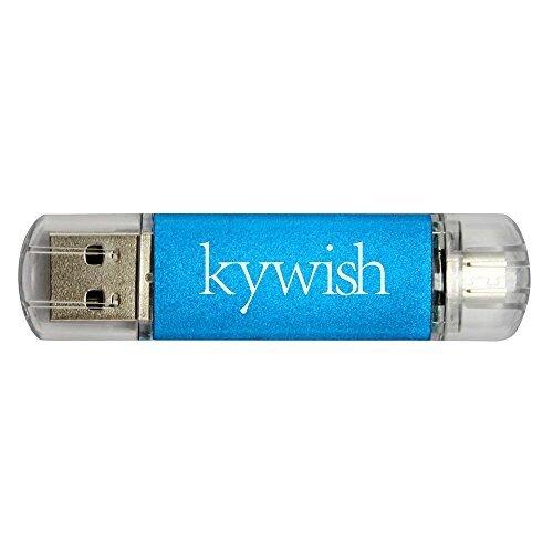 keywish 16GB Micro USB-Flash Drive USB 2.0Dual Memory Stick für Android Smartphone Tablet und PC Blau 16 GB