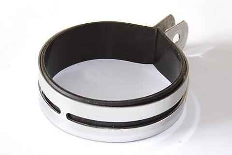 IXIL Auspuff Uni-Auspuffschelle 12cm poliert rund