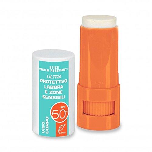Dr. Taffi Super monoi Oro Big Stick SPF50Solar para labios y piel sensible zonas–8ml