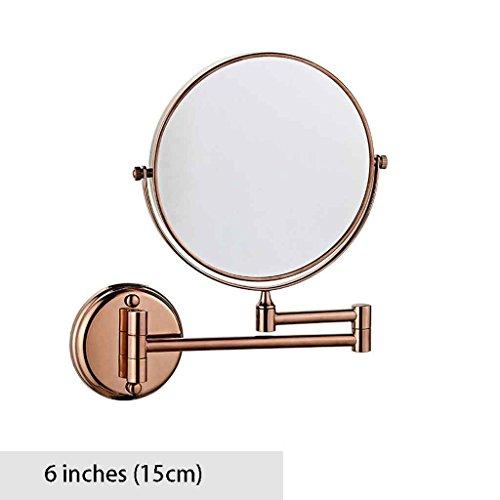 Miroirs Pliant Vanité Salle De Bains Hôtel Salle De Bains Télescopique Double Face Montage Mural À Deux Faces Pliable 6 Pouces / 8 Pouces