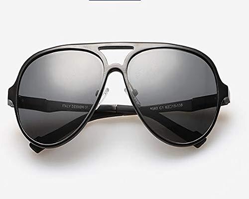 Club Boy Herren-Sonnenbrille, Metallrahmen-Froschspiegel, UV-beständig, polarisiert, wasserdicht, geeignet für Outdoor-Radsport, Golf, Angeln,Blackframegray
