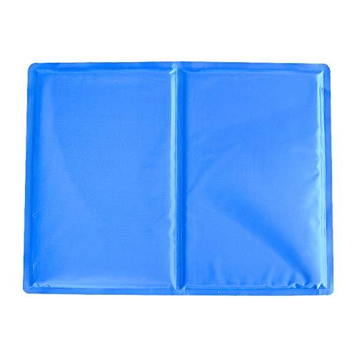 Topper Pad (SSH Groß Hund Kühlung Matte Haustier Katze Pad Kissen Bett Topper Ungiftig Gel Wasser Beständig Ideal zum Zuhause & Reise Blau 90x50cm)