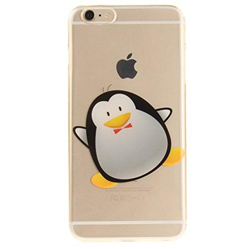 "Coque iPhone 6s Plus, SsHhUu Ultra Mince Anti-Rayures Transparente Bumper Etui Housse Cover Case pour Apple iPhone 6s Plus / 6 Plus (5.5"") - Arbre Noir Cute Penguin"