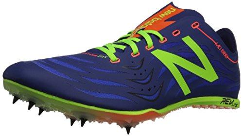 New Balance Men's MD800V4 Track Spike Shoe Blue / Lime