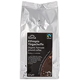 Suma Fairtrade Organic Ground Ethiopia Coffee 227 g (Pack of 6)