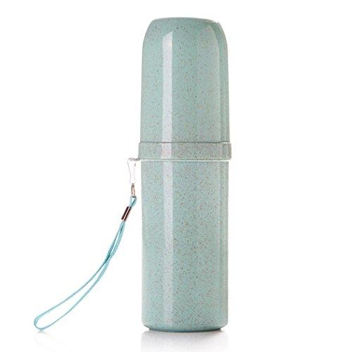 outgeek Zahnbürste Flasche Travel Wash Cup Biologisch Abbaubare Weizen Stroh Cup Tragbare Zahnpasta Box