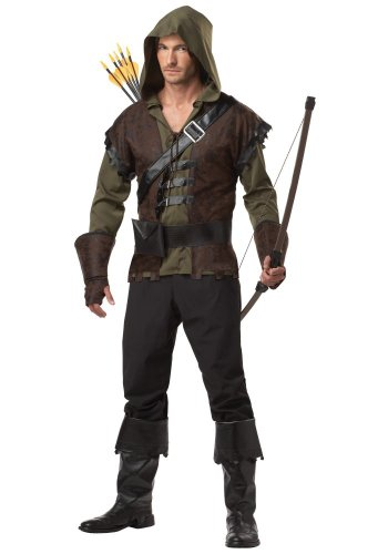 Herren-Kostüm ROBIN HOOD - König der Diebe, (Stiefelstulpen Superhelden)