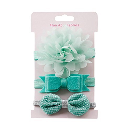 s Kinder Baby Mädchen Elastic Floral Stirnband Einfache und Reine Farbe Bogen Baby Bowknot Haarband Set Stirnband Haarschmuck Geschenk für Kleinkind (M) (Einfach Nicht Von Dieser Welt Kostüm)