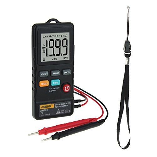 Baoblaze Digital-Multimeter AC/DC-Spannung Werkzeug für Prüfung, Wartung und Reparatur von Geräten - Schwarz