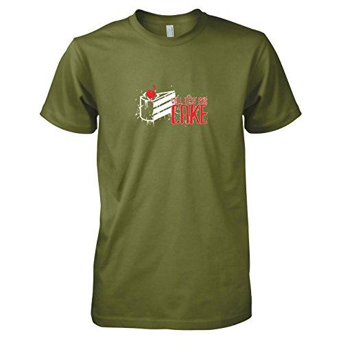 TEXLAB - Will test for Cake - Herren T-Shirt, Größe XL, oliv