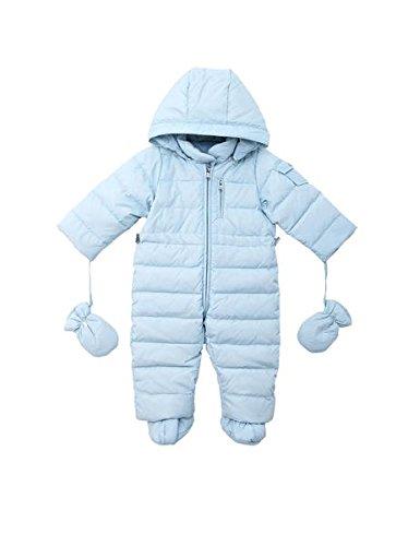 Oceankids Tuta monopezzo / tuta da neve / da passeggino con cappuccio, blu da bambino e bambina 3-6 Mesi
