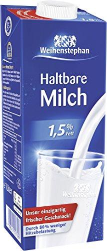 Preisvergleich Produktbild Weihenstephan H-Milch 1, 5 Prozent,  12er Pack (12 x 1 l)