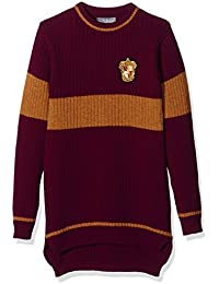 Harry Potter - Suéter Quidditch Gryffindor - original - color burdeos y amarillo (dorado) - M