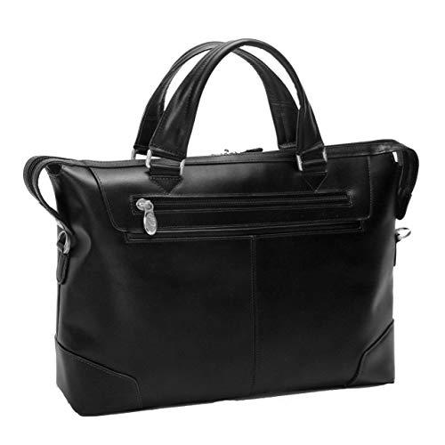 Slim Women's Laptop Briefcase, Leather, Small, Black - Arcadia   Mcklein - 88765