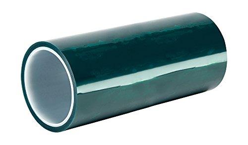 TapeCase 594L-127 cm x 72 YD grün Polyester/Silikon Klebeband mit Liner, 2,9 m Länge: 127 cm Polyester Liner