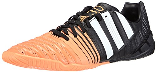 adidas Nitrocharge 3.0 Indoor, Scarpe da Calcio Uomo, Nero (Core Black/Ftwr White/Flash Orange s15), 42 EU