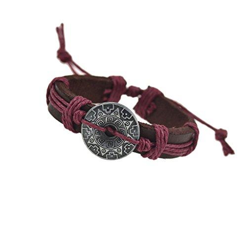 Jiayiqi Street Mode PU Réglable Bracelet En Cuir Pour Femmes Hommes No 1