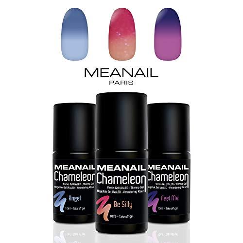 Shellac Set Meanail • Gellack Set Paris • UV Gel UV Nagellack Sets Maniküre + Pediküre •...