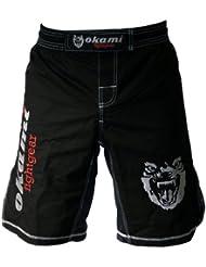 OKAMI fightgear Defender Short MMA Noir Taille 38