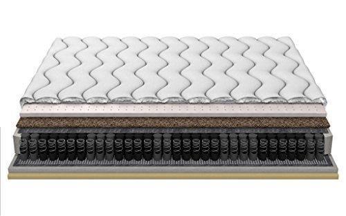Multi Duo Posh LATEX Kokos Visco-Schaum Multipocket Federn und Taschenfeder 18cm 3-Schicht gesteppt frotta decken 180x200 cm