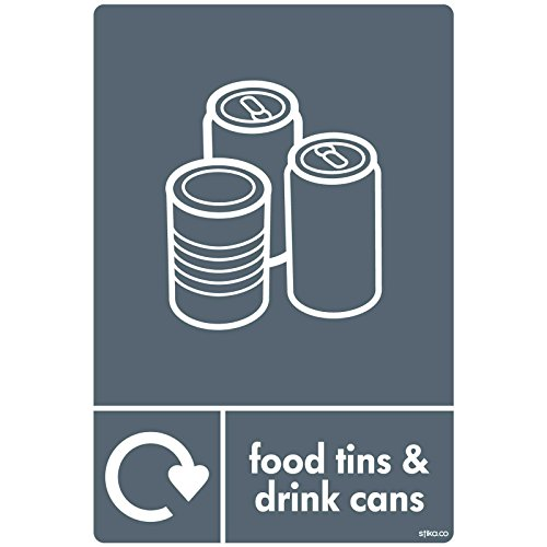Getränke Dosen Recycling Abfalleimer Aufkleber Wrap Recycle jetzt 10x 15cm (Recycle-papierkorb)
