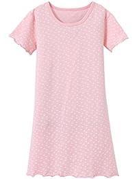 ABClothing Cotton Girls camisón blanco rosado 3-12 años de edad