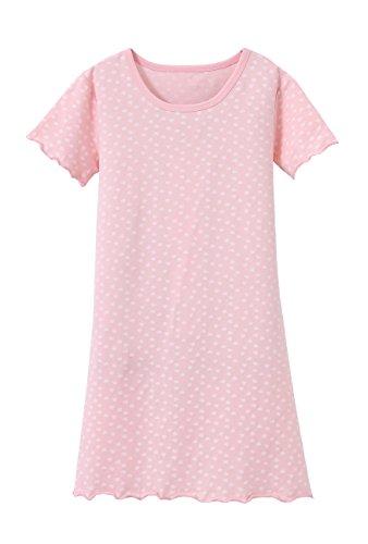 ABClothing Kinder Herz Nachthemd Nachthemd Pink 8-9 Jahre
